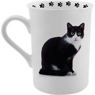 Dimension 9 Cat Breed Coffee Mug, Tuxedo Cat, 8-oz