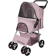 Paws & Pals Folding Dog & Cat Stroller, Pink