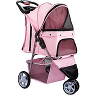 Paws & Pals Jogger Folding Dog & Cat Stroller, Pink