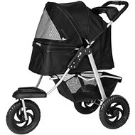 OxGord Deluxe Folding Dog & Cat Stroller, Black
