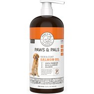 Paws & Pals by OxGord Wild Alaskan Salmon Oil Dog & Cat Supplement
