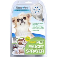 Rinse Ace 3-Way Faucet Sprayer Dog Grooming Tool, 8-ft hose