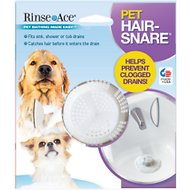Rinse Ace Pet Hair Snare Drain Catcher, White