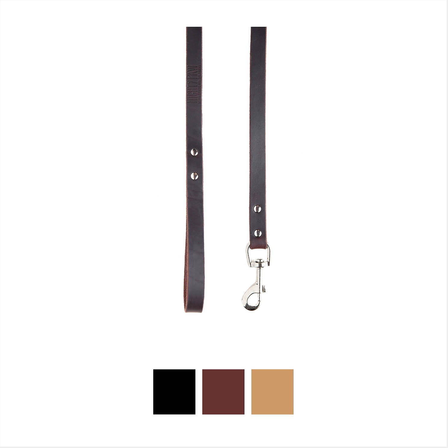 Mighty Paw Leather Dog Leash, Light Brown, Standard Mighty Paw Leather Dog Leash, Light Brown, Standard new photo