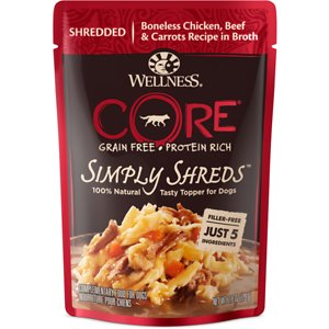 Wellness CORE Simply Shreds Chicken, Beef & Carrots Wet Dog Food Topper