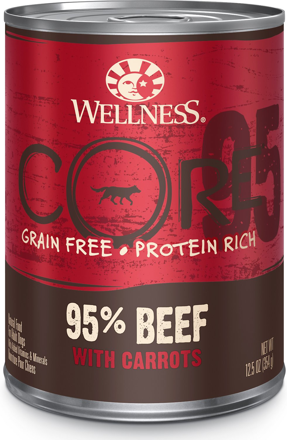 Wellness Core 95 Grain Free Beef Amp Carrots Canned Dog
