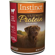 Instinct by Nature's Variety Ultimate Protein Grain-Free Real Beef Recipe Natural Wet Canned Dog Food, 13.2-oz, case of 6