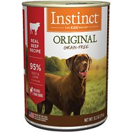 Instinct by Nature's Variety Original Grain-Free Real Beef Recipe Natural Wet Canned Dog Food, 13.2-oz, case of 6