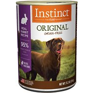 Instinct by Nature's Variety Original Grain-Free Real Rabbit Recipe Natural Wet Canned Dog Food, 13.2-oz, case of 6