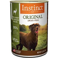 Instinct by Nature's Variety Original Grain-Free Real Beef & Venison Recipe Natural Wet Canned Dog Food, 13.2-oz, case of 6