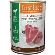 Instinct by Nature's Variety Limited Ingredient Diet Grain-Free Real Lamb Recipe Natural Wet Canned Dog Food, 13.2-oz, case of 6