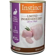 Instinct by Nature's Variety Limited Ingredient Diet Grain-Free Real Rabbit Recipe Natural Wet Canned Dog Food, 13.2-oz, case of 6