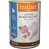 Instinct by Nature's Variety Limited Ingredient Diet Grain-Free Real Turkey Recipe Natural Wet Canned Dog Food, 13.2-oz, case of 6