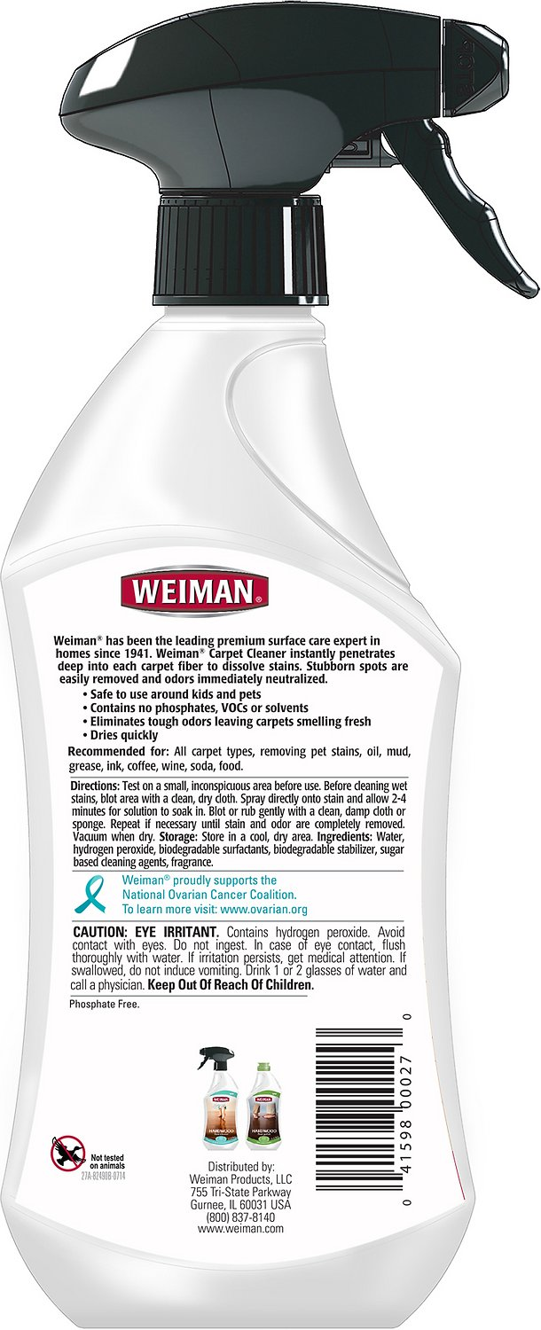 Weiman Carpet Cleaner 22 Oz Chewy Com