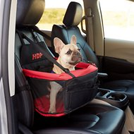 HDP Deluxe Lookout Dog, Cat & Small Animal Booster Car Seat, Red