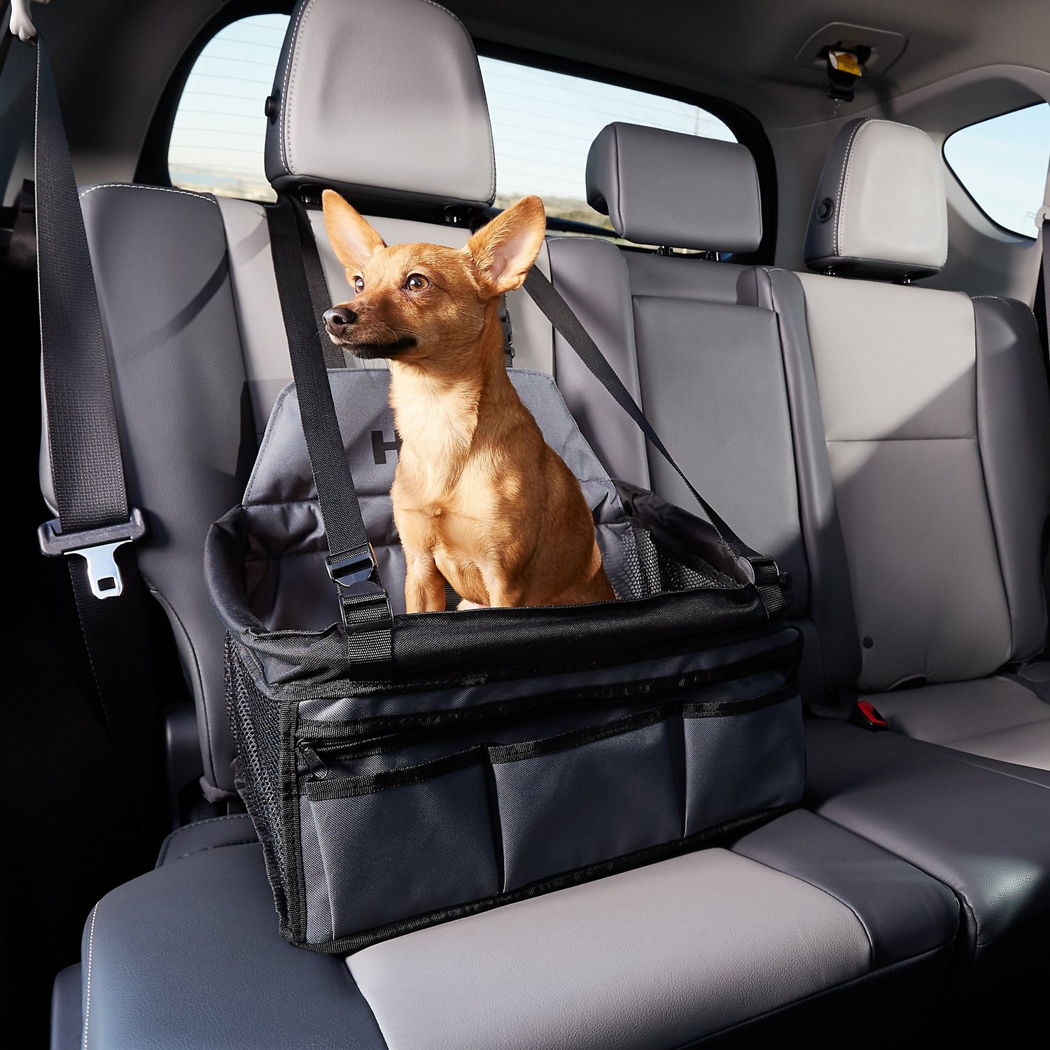 HDP Deluxe Lookout Dog, Cat & Small Animal Booster Car Seat, Black ...