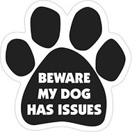 "Magnetic Pedigrees ""Beware My Dog Has Issues"" Paw Magnet"