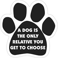 "Magnetic Pedigrees ""A Dog is the Only Relative You Get To Choose"" Paw Magnet"