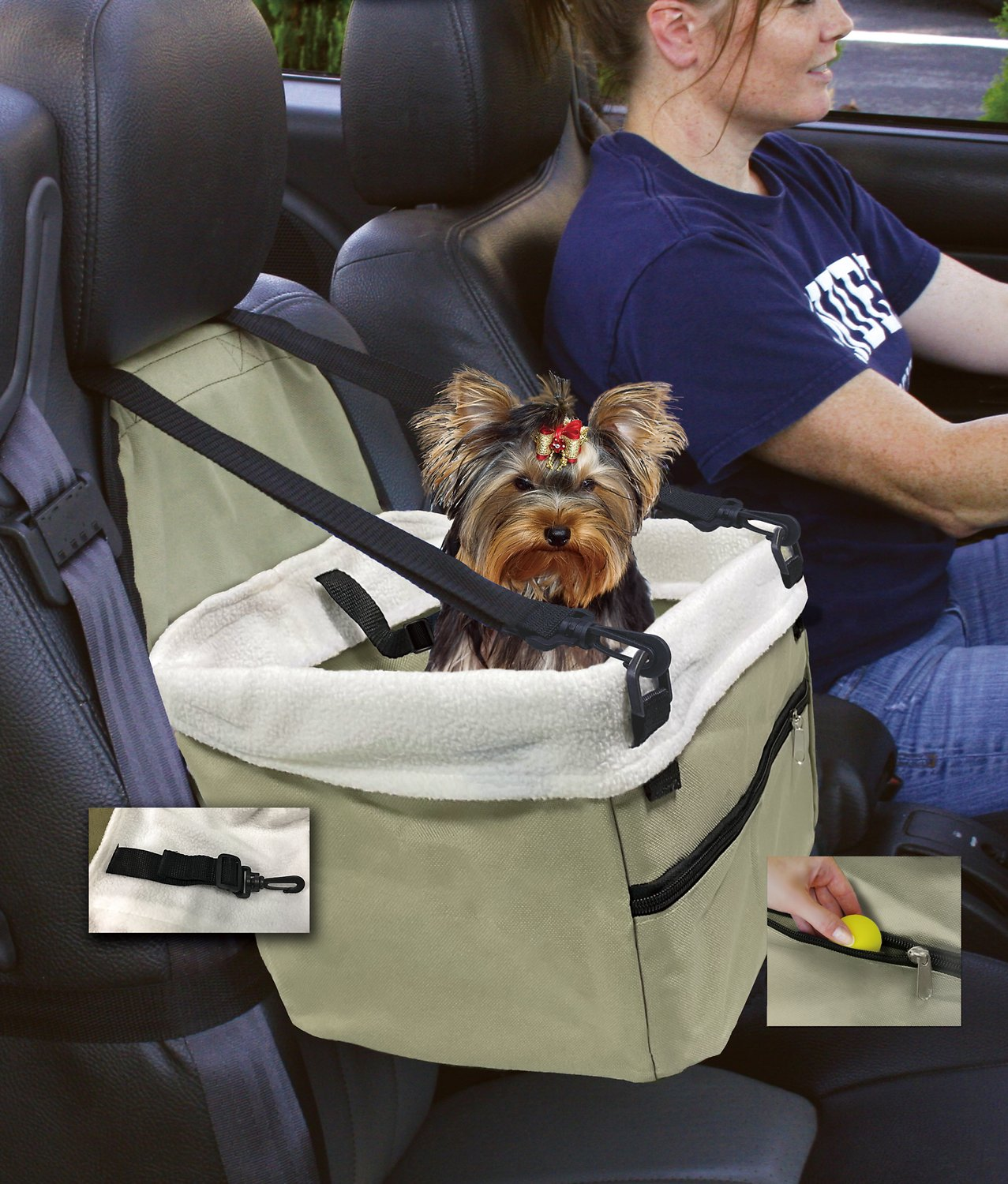 Pet Booster Seat >> Etna Dog Cat Car Booster Seat Tan Chewy Com