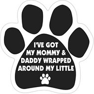 "Magnetic Pedigrees ""Wrapped Around My Little (Paw Print)"" Paw Magnet"