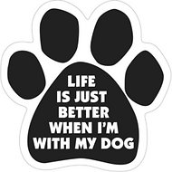 "Magnetic Pedigrees ""Life Is Just Better When I'm With My Dog"" Paw Magnet"