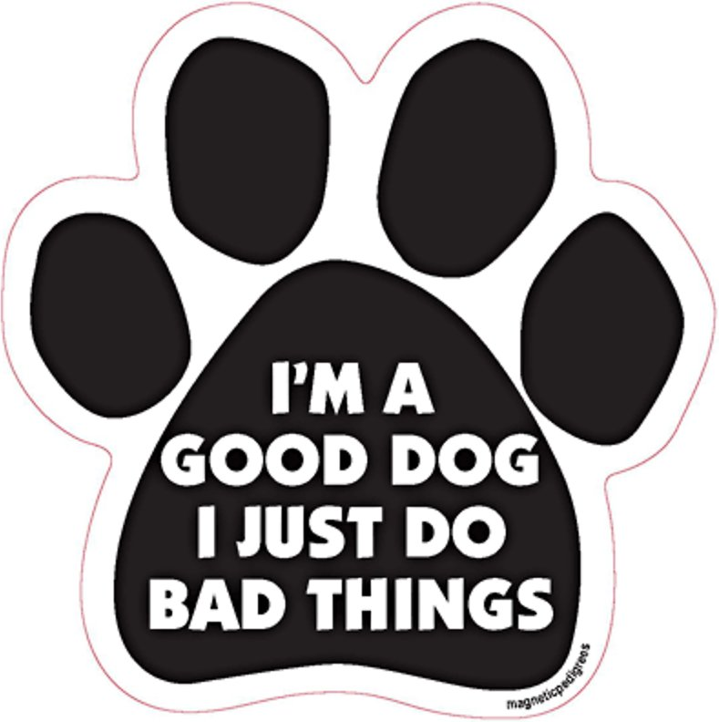 The More I Love My Dog Pawprint Car Magnet Paw Print Auto Truck Decal Magnet Magnet Me Up The More Men I Meet