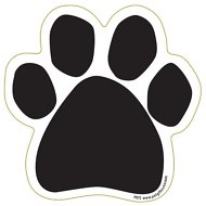 Magnetic Pedigrees Plain Paw Magnet, Black