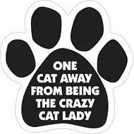 "Magnetic Pedigrees ""One Cat Away From Being The Crazy Cat Lady"" Paw Magnet"