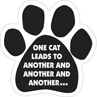 "Magnetic Pedigrees ""One Cat Leads To Another…"" Paw Magnet"