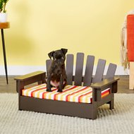 Etna Adirondack Dog & Cat Chair With Cushion, Brown
