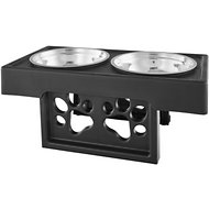 Etna 3 Stage Adjustable Dog Feeder, Black