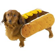 Casual Canine Hot Diggity Mustard Dog Costume, Small