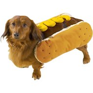 Casual Canine Hot Diggity Mustard Dog Costume, Medium