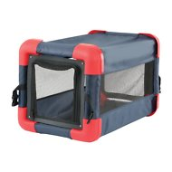 Etna Pop Up Dog & Cat Crate, Blue & Red