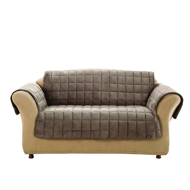 Sure Fit Deluxe Loveseat Cover Sable Chewy Com