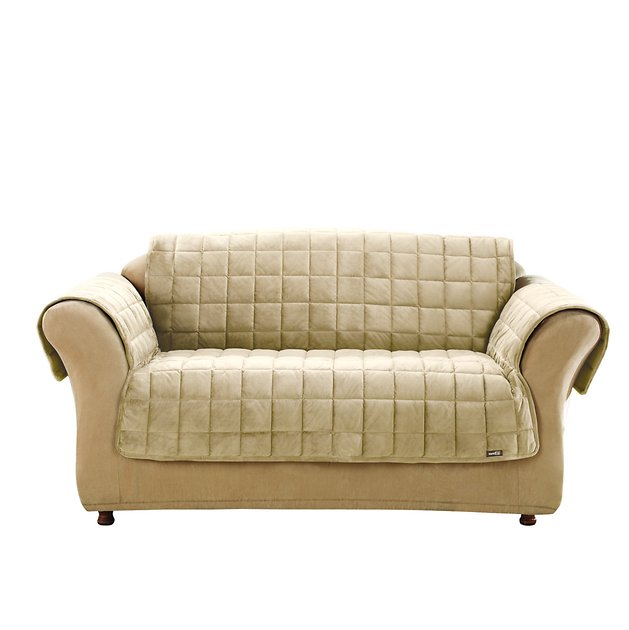 Sure Fit Deluxe Loveseat Cover Ivory Chewy Com