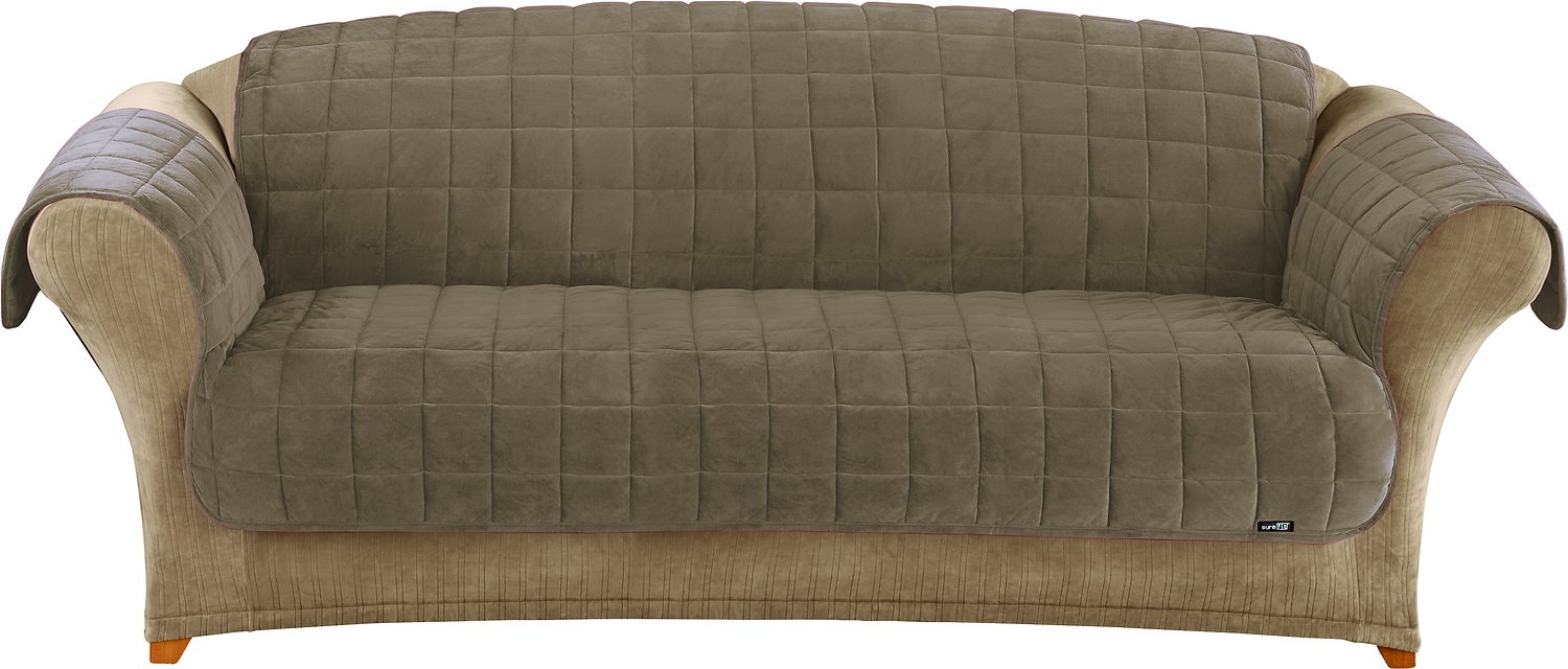 Sure Fit Deluxe Sofa Cover Sable