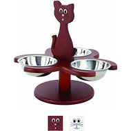 Etna Multi Cat Feeder, Walnut