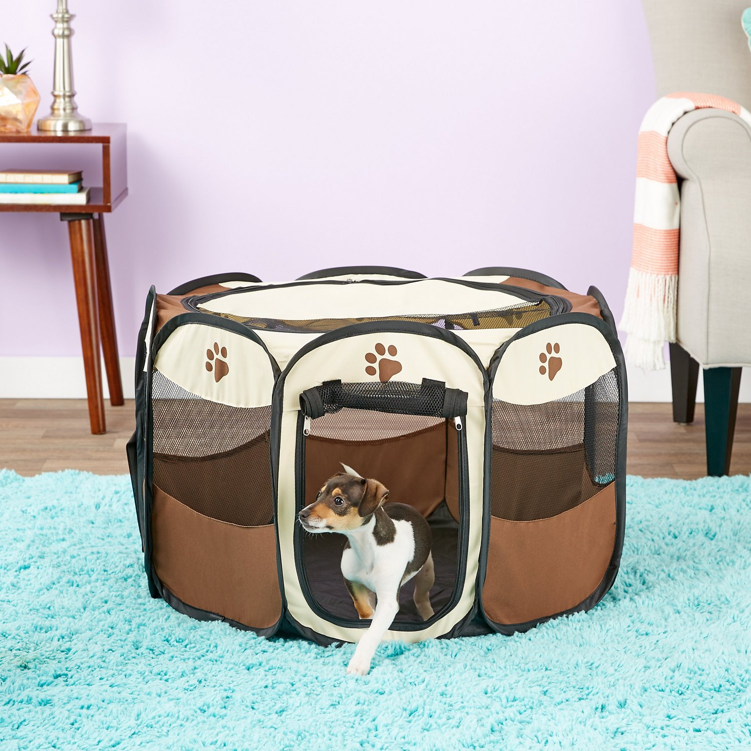 Terrific Etna Pet Store Portable Dog Play Pen Tan Small Gmtry Best Dining Table And Chair Ideas Images Gmtryco