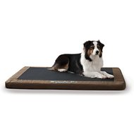 K&H Pet Products Comfy N' Dry Indoor & Outdoor Dog & Cat Bed, Chocolate, Large