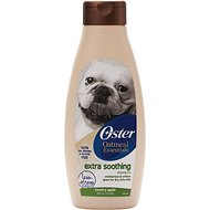 Oster Oatmeal Naturals Extra Soothing Dog Shampoo, 18-oz bottle, Country Apple
