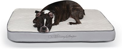 K&H Pet Products Memory Sleeper Orthopedic Pillow Dog Bed, Gray, Medium