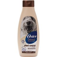 Oster Oatmeal Essentials Shed Control Dog Shampoo, 18-oz bottle, Coconut Verbena