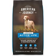 American Journey Large Breed Salmon & Brown Rice Protein First Recipe Dry Dog Food, 28-lb bag