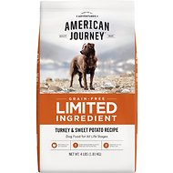 American Journey Limited Ingredient Grain-Free Turkey & Sweet Potato Recipe Dry Dog Food, 4-lb