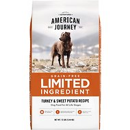 American Journey Limited Ingredient Grain-Free Turkey & Sweet Potato Recipe Dry Dog Food, 12-lb