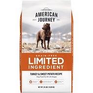American Journey Limited Ingredient Turkey & Sweet Potato Recipe Grain-Free Dry Dog Food, 24-lb