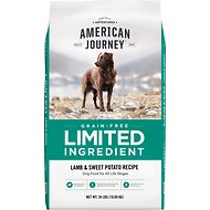 American Journey Limited Ingredient Grain-Free Lamb & Sweet Potato Recipe Dry Dog Food, 24-lb bag