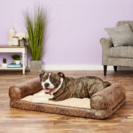 K&H Pet Products Bomber Memory Sofa Dog Bed, Brown, Large