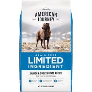 American Journey Limited Ingredient Grain-Free Salmon & Sweet Potato Recipe Dry Dog Food, 24-lb bag
